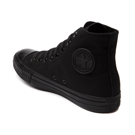 Converse all star hi sneaker, black mono, at journeys shoes