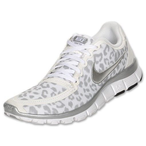 save off 894f2 083c6 Nike Free 5.0 V4 Cheetah Leopard Print White Silver Wolf Grey Running