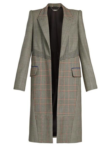 coat patchwork grey