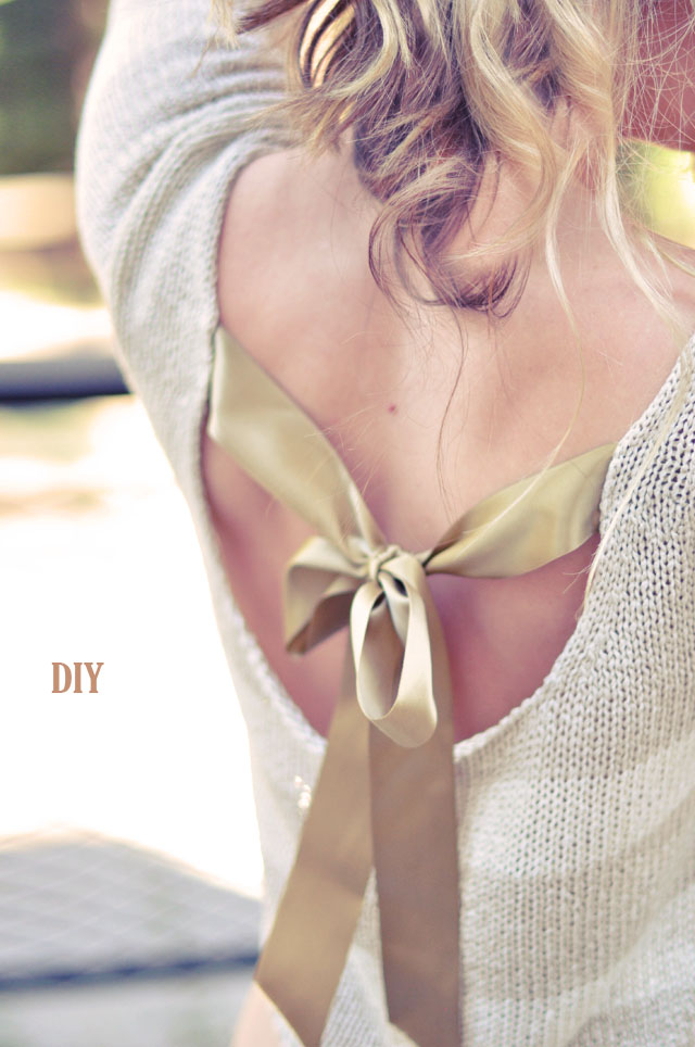 Pretty DIY Bow Sweater {In the Back} | ...love Maegan