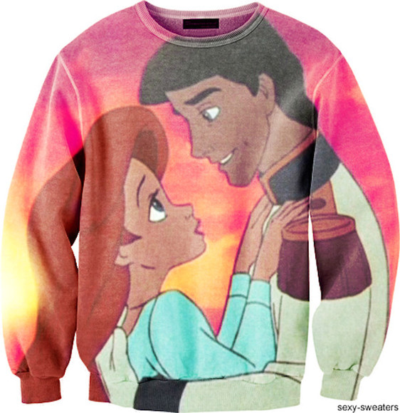 sweater ariel the little mermaid disney