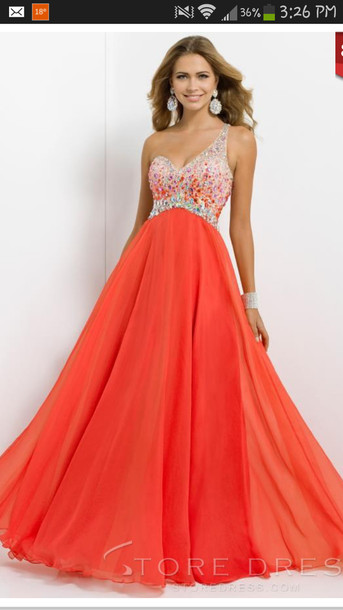 Dress: prom dress, glitter dress, one shoulder prom dress, formal ...