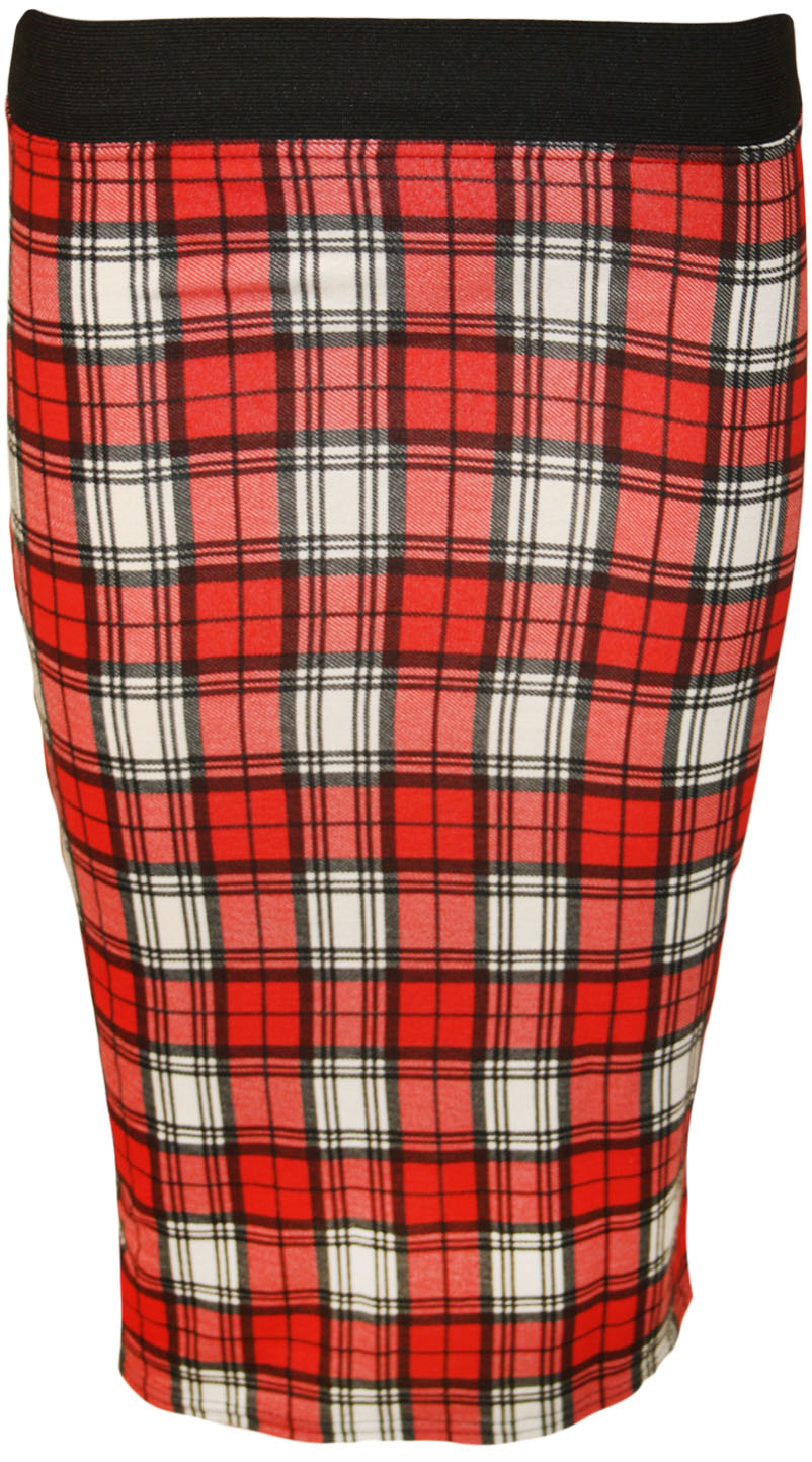 Shannon Tartan Bodycon Skirt