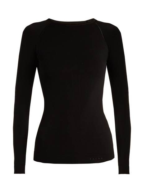 Falke t-shirt shirt t-shirt long black top