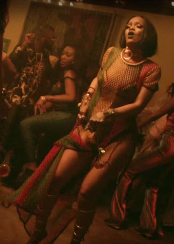 Dress Maxi Dress Jamaican Color Net Side Spli See