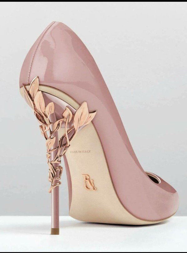 shoes heels pink nude pink heels nude high heels gold flowers wheretoget. Black Bedroom Furniture Sets. Home Design Ideas