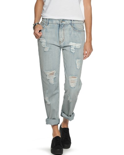 Minkpink Instinct Blues Boyfriend Jeans washed blue von MINKPINK -47%