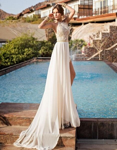Gorgeous lace wedding dress for summer wedding