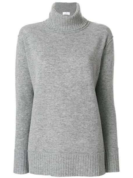 Allude sweater turtleneck turtleneck sweater women wool grey