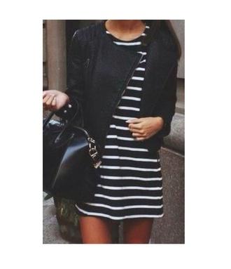 dress black stripes dress style classy streetstyle streetwear