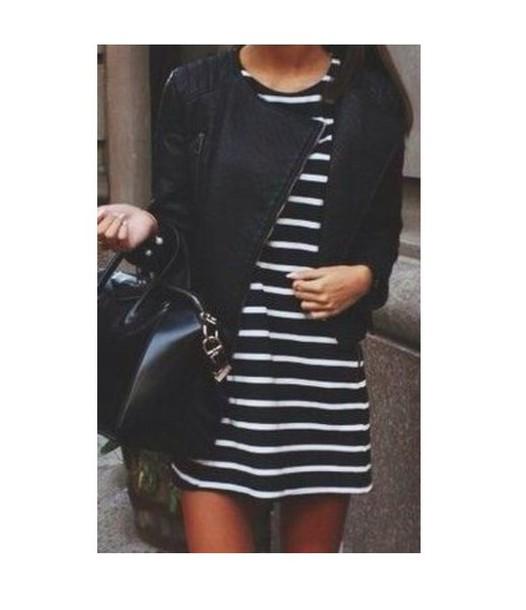 dress black striped dress style classy streetstyle streetwear