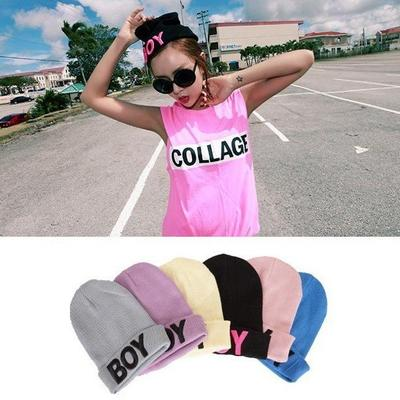 Women's boy letter embroidery beanie free shipping · jimmyfashionshop · online store powered by storenvy
