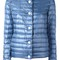 Herno - high neck padded jacket - women - polyamide - 44, blue, polyamide