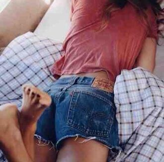 shorts denim frayed ripped blue navy fray fraying retro vintage grunge cute cool tumblr teenagers girl summer spring sun sunny hot beach party casual