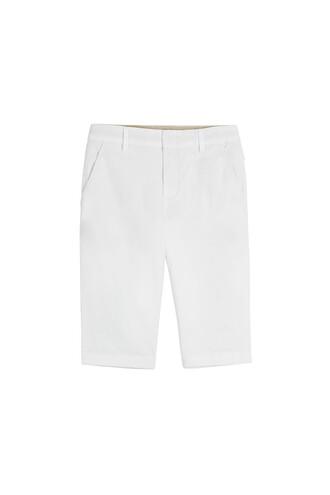 shorts bermuda cotton white
