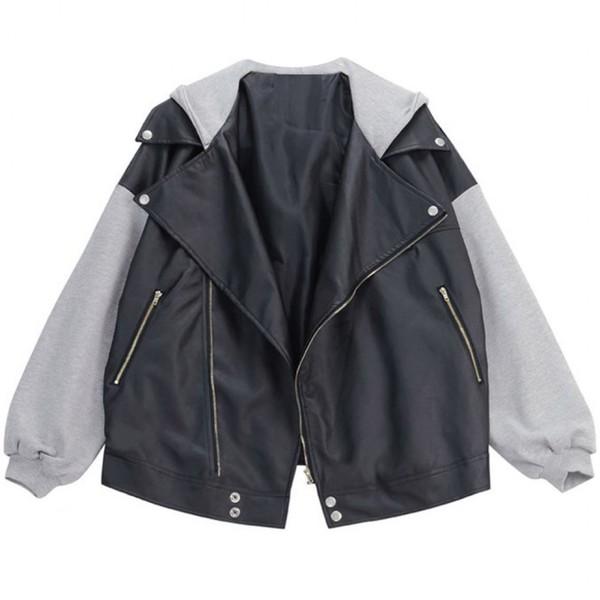 Best Motorcycle Jacket >> BOOGZEL   Vegan Leather Hooded Jacket