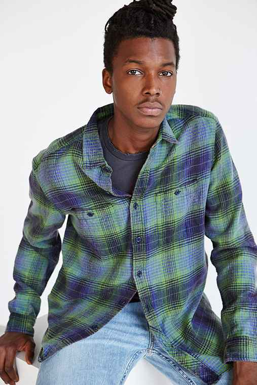 Stapleford mission washed flannel button