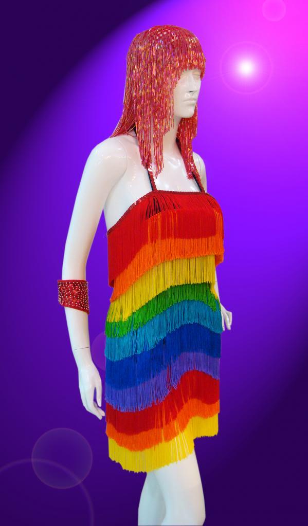 Moulin Samba Latin Salsa Ballroom Rainbow Fringe Trim