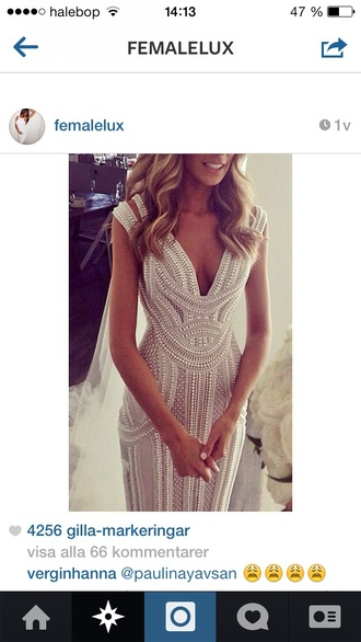 dress prom dress wedding dress wedding pearl