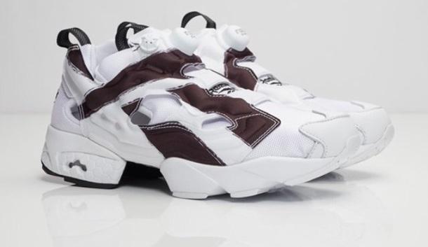 shoes white black sneakers Reebok reebok instapump fury