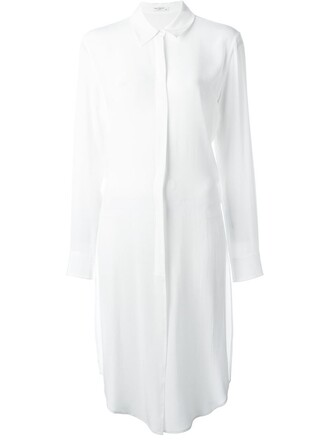 shirt long shirt long white top