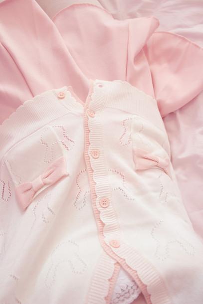 cardigan pink kawaii pastel skirt sweater pastel pink