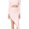 Baja east long sleeve asymmetrical dress - light pink