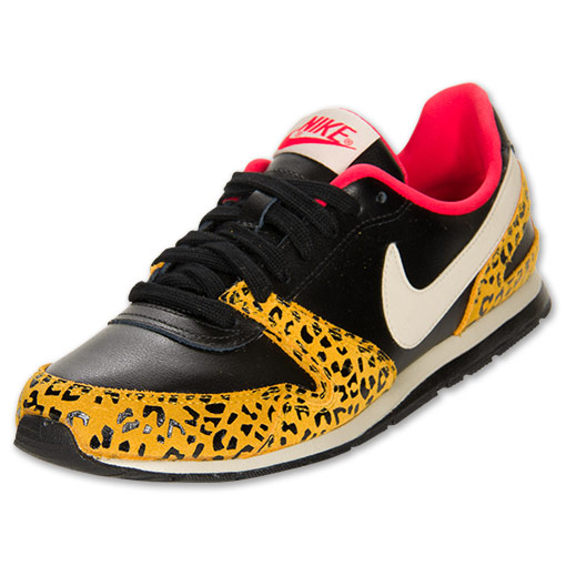 nike eclipse ii s casual shoes black leopard pink