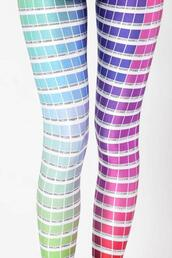 pants,different color,blue,pink,leggings,purple,pantone,printed leggings,printed pants,colorful,bright