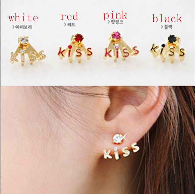 A Pair Korean Style Lovely Flower Earrings Stud Earring Free Shiping | eBay