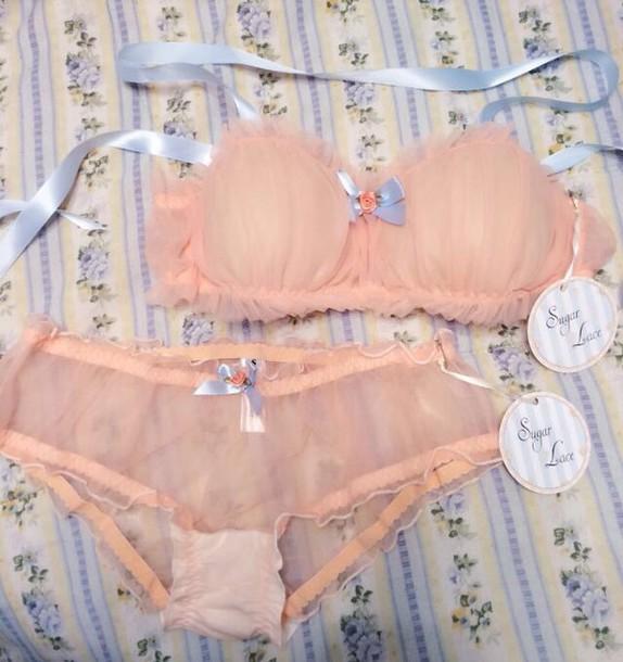 underwear peach lingerie