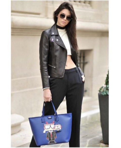 bag top purse kendall jenner jacket crop tops instagram pants jewels jewelry black necklace choker necklace black choker kendall jenner jewelry keeping up with the kardashians model model off-duty celebrity style celebrity celebstyle for less