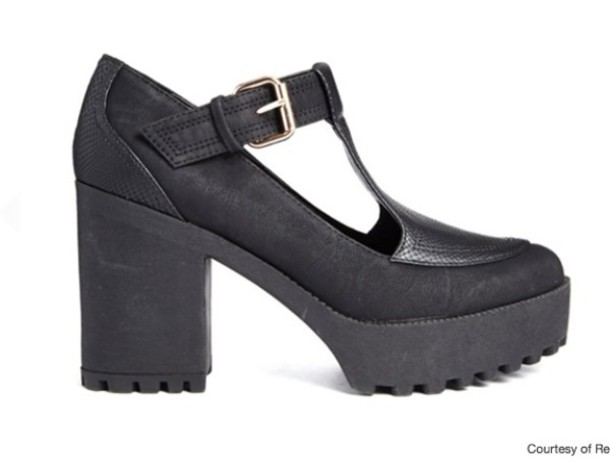 River Island T Bar Chunky Heeled Shoes - River Island - £35.00