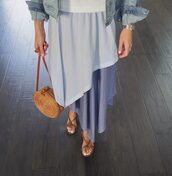skirt,posse,denim jacket,sweet miette,blogger,blogger style,opening ceremony,All blue outfit