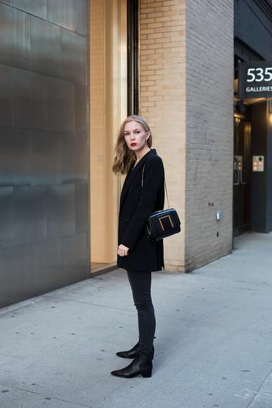 jacket jeans bag blogger jewels