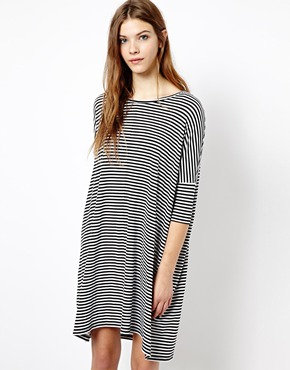 Monki | Monki Stripe Long Sleeve Dress at ASOS