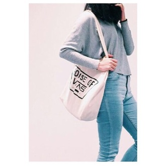 bag vans tote bag girl vans girl shopper skateboard skater skater girl vans warped tour
