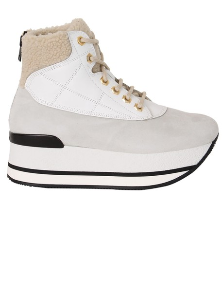 Hogan maxi ankle boots white shoes