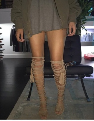 shoes high heels boots lace up lace up heels all over nude beige fashion style black dress love beautiful neutrals