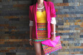 skirt,pattern,triangle,pink,yellow,cute,high waisted