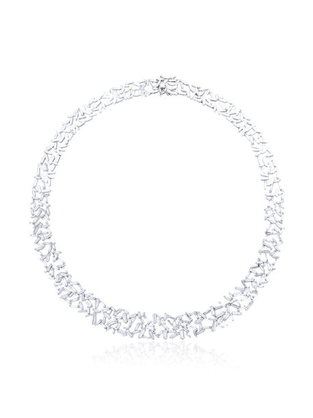 Suzanne Kalan women necklace diamond necklace gold white grey metallic jewels