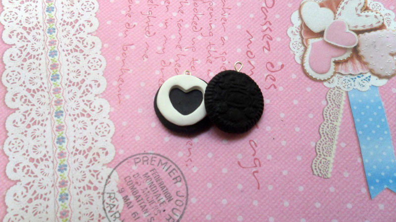 Heart necklace, miniature food jewelry, polymer clay food necklace