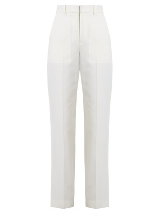 cotton wool cream pants