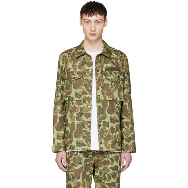 rag and bone rag & bone Green Camo Flight Shirt Jacket