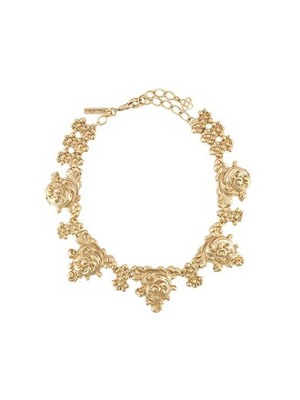 necklace floral metallic jewels