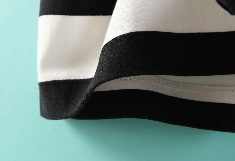 Vestido rayas sin esplada-blanco y negro