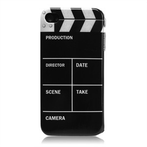 Director clip board movie cut hard back cover case for iphone 4 4s