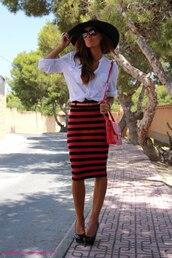 bodycon,red skirt,black skirt,skirt