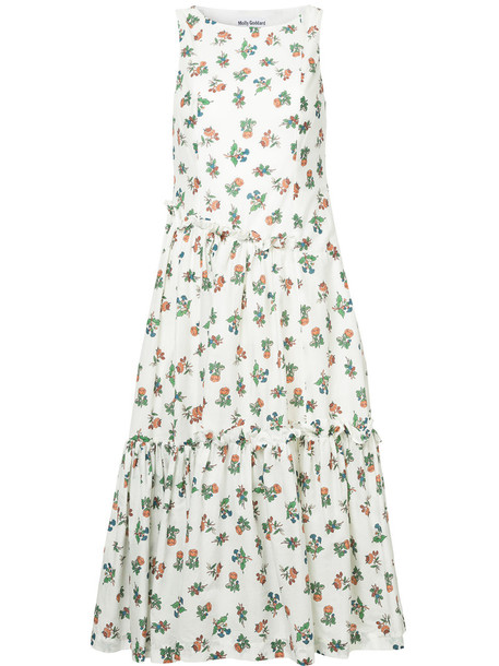 MOLLY GODDARD dress print dress women floral white cotton print