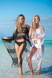 dress,fringe beach cover up,wear it over your bikini,black,white,mapalé,relaxed fit,bikiniluxe